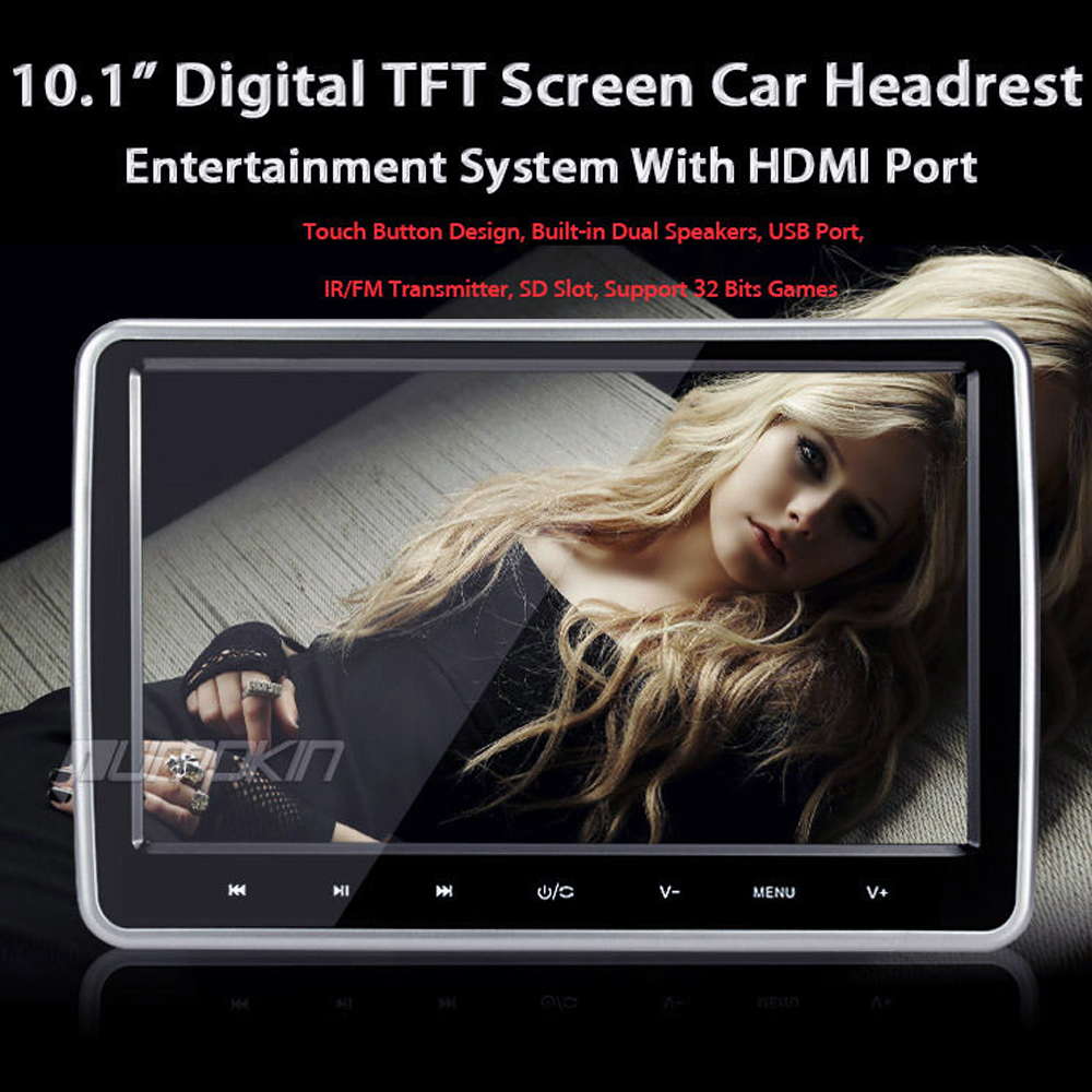 10 1 innen kopfst tze lcd tft monitor bildschirm f r kinder auto film games ebay. Black Bedroom Furniture Sets. Home Design Ideas