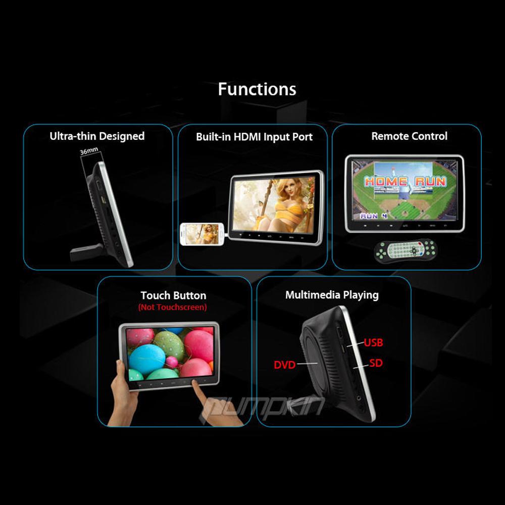 10 1 innen kopfst tze lcd tft monitor bildschirm f r kinder auto film games. Black Bedroom Furniture Sets. Home Design Ideas