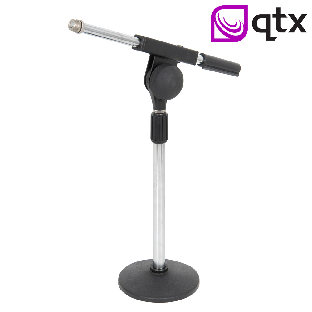Heavy Duty Telescopic Mini Microphone Desk Mic Stand with Boom Arm