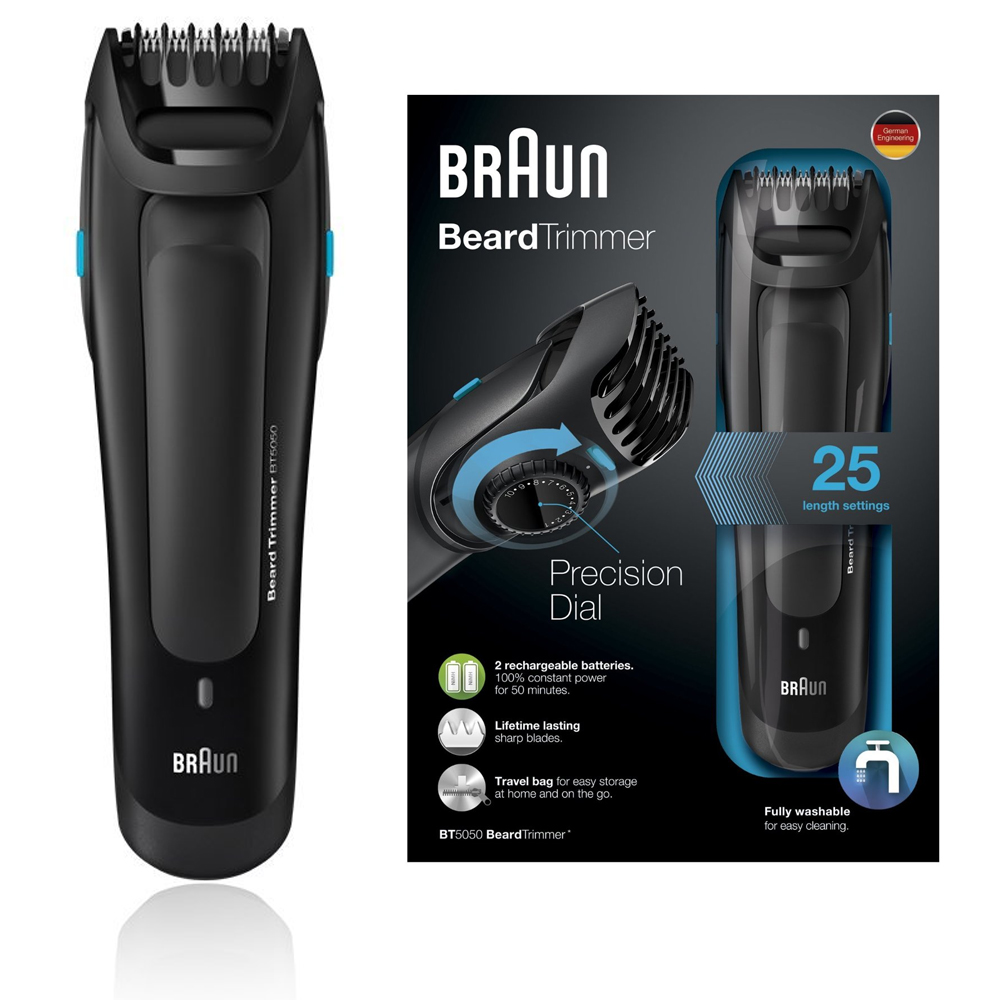 braun bt5050 precision mens travel worldwide beard trimmer 20 length washable ebay. Black Bedroom Furniture Sets. Home Design Ideas