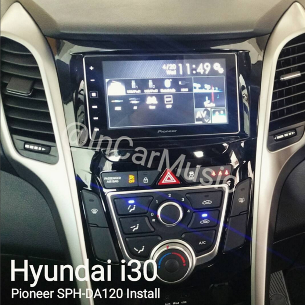 hyundai i30 double din fascia panel steering control car. Black Bedroom Furniture Sets. Home Design Ideas