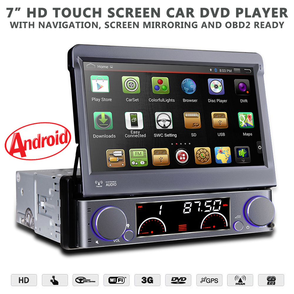 7 flip out hd android navigation bluetooth car stereo. Black Bedroom Furniture Sets. Home Design Ideas