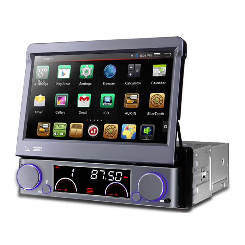 7 flip out hd android navigation bluetooth car stereo with radio dvd usb sd. Black Bedroom Furniture Sets. Home Design Ideas