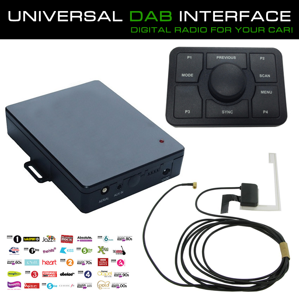 universal digital car radio dab interface adaptor with. Black Bedroom Furniture Sets. Home Design Ideas