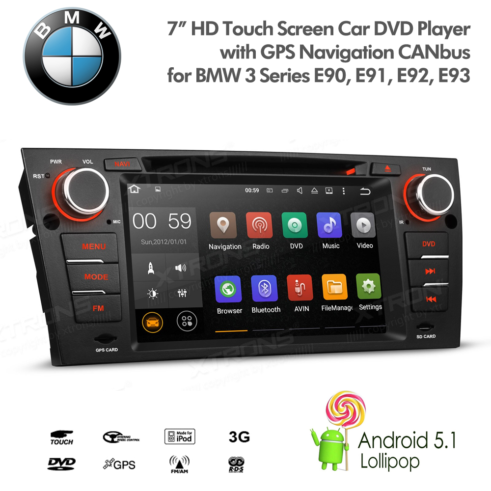 7 android gps radio satnav usb sd aux bluetooth stereo. Black Bedroom Furniture Sets. Home Design Ideas