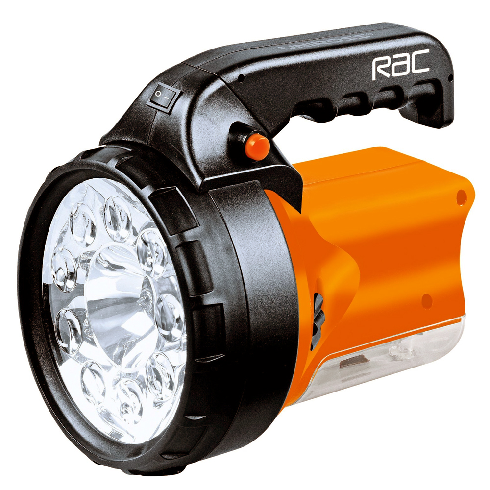 rac rechargeable 3 in 1 high power 9 led spotlight torch light. Black Bedroom Furniture Sets. Home Design Ideas