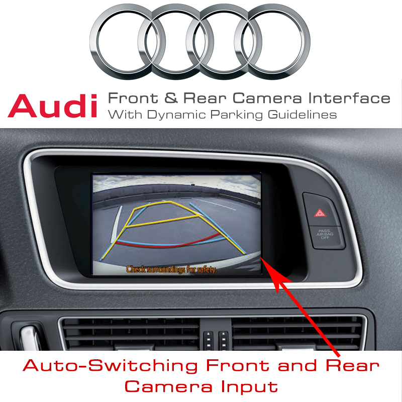 Audi A5 Q5 A4 B8 Front Amp Rear Camera Input Interface Dynamic Parking Guides Ebay