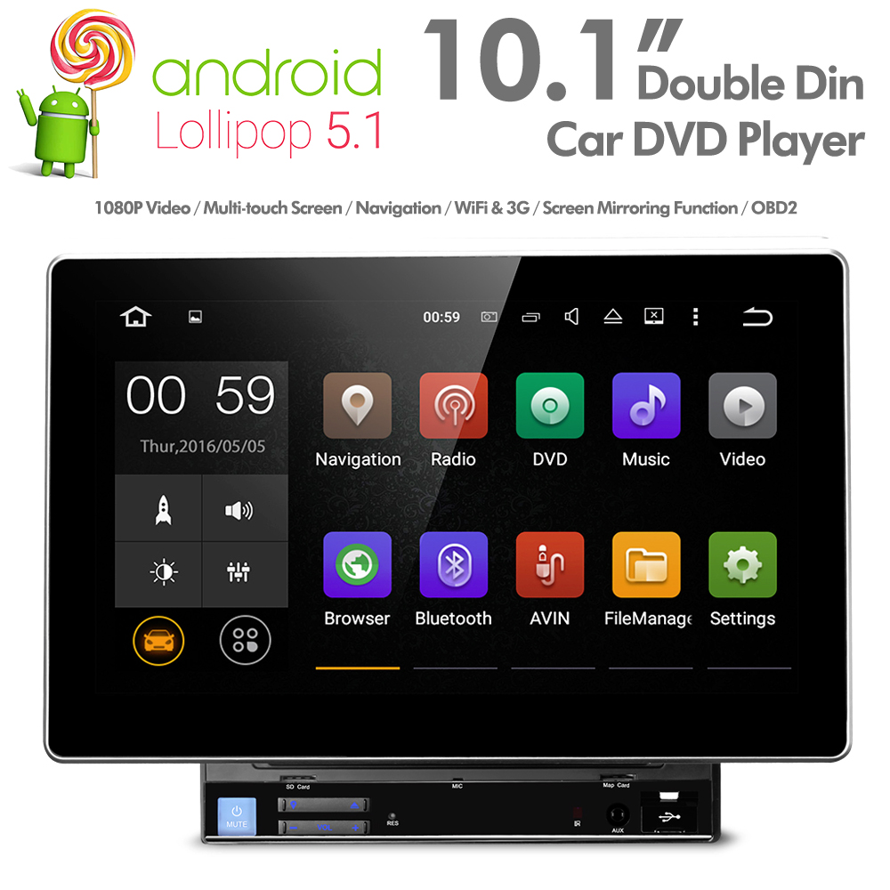 10 1 034 android double din car dvd player stereo with gps. Black Bedroom Furniture Sets. Home Design Ideas
