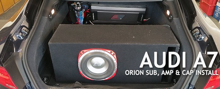 Audi A7 Orion Sub Install