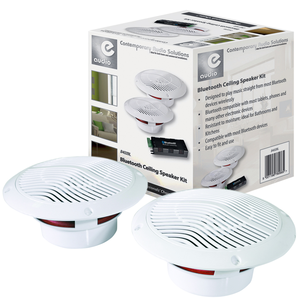 Bluetooth ceiling speaker kit bathroom kitchen sound - Waterproof sound system for bathroom ...