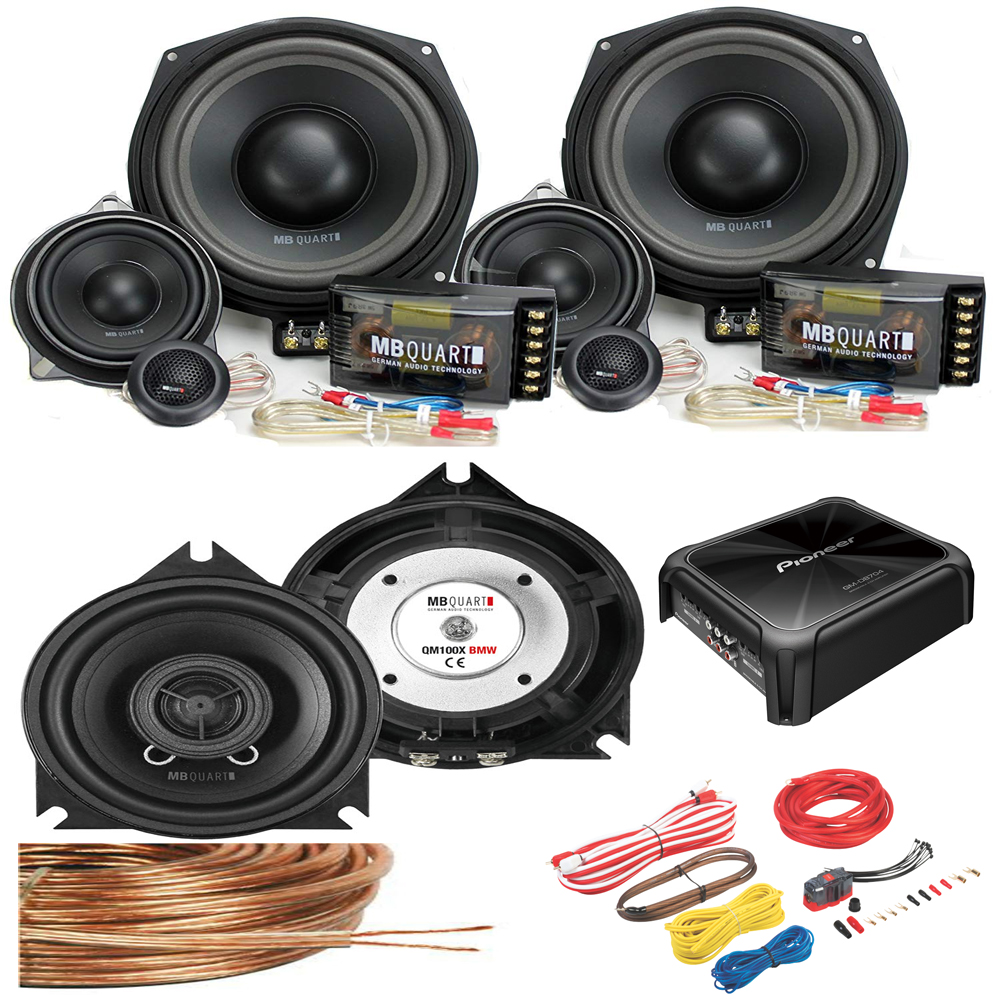 bmw audio upgrade package - speakers & subwoofers, 4ch amplifier & wiring  kit