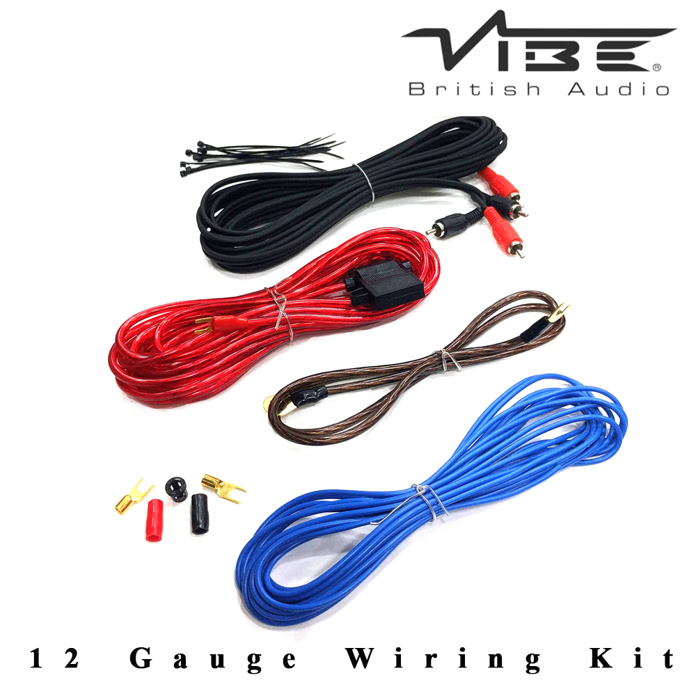 cl12awk v7 vibe 12 awg 250 watts car amplifier wiring kit