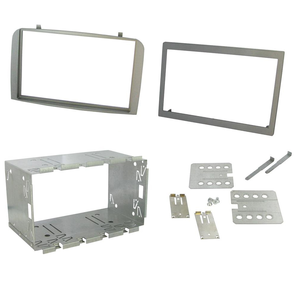 CT24AR09 ALFA ROMEO GT 2004 to 2010 SILVER DOUBLE DIN FASCIA ADAPTER PANEL