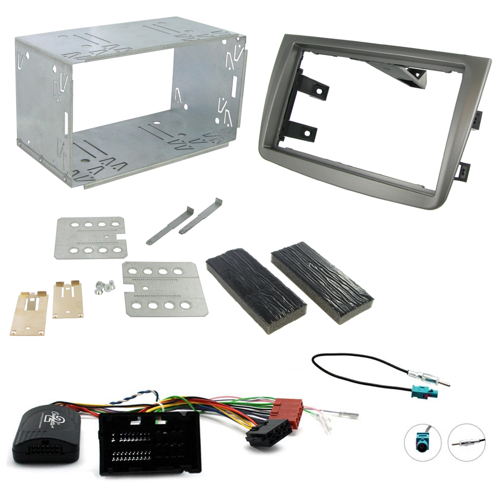 Alfa Romeo Mito 2014 15 Double Din Car Stereo Fascia Fitting Kit Mazda 3 Cd Wiring Loom Ebay Matt Titanium