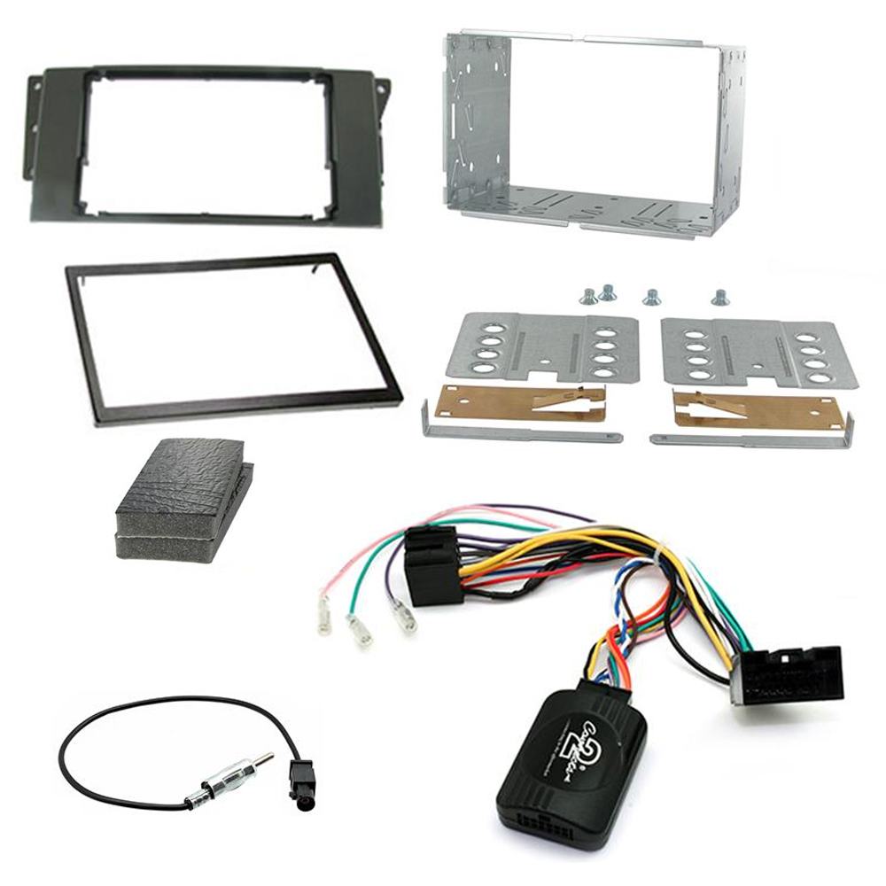 Car Stereo Double Din Fitting Kit and Stalk Adaptor to fit RR Sport 05 on