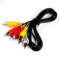 1.5M 3 RCA to RCA Stereo Audio Video AV TV Component Cable Lead