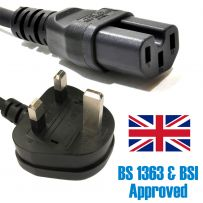 2M Power Cord UK Plug to Hot IEC C13 Heat Cable Lead For Kettles