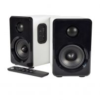White Bookshelf Speakers, Modern 3.5'' Woofers and 1'' Dome Tweeters with Active Bluetooth