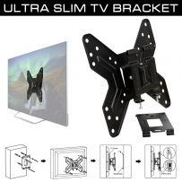 Tilt & Swivel Wall Mount TV/Monitor Bracket - VESA Compliance