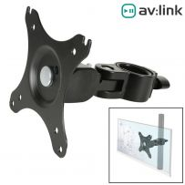 35mm Pole Mount LCD TV Bracket DJ  Karaoke Suits 17 To 30 INCHES
