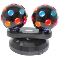 Dual Twin Disco Rotating Spinning Ball DJs Club Wedding Pub Party Prom Lights