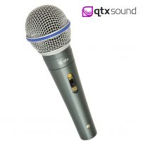 QTX Sound DM15 Handheld Vocal Dynamic Metal Microphone For Karaoke PA