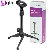 Desktop Studio Adjustable Microphone Tripod Stand & Mic Holder Clip