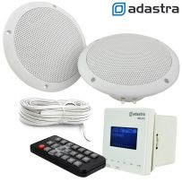 In Wall USB SD Bluetooth Amplifier with FM Radio 2 x 6.5 Inch Ceiling Speaker Kit