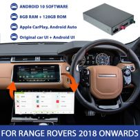 Multimedia Video Interface Box with Android 10 System & Apple Carplay for Range Rover Vehicles