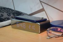 Recharge: Wireless Fast Charging Digital Alarm Clock - BLACK