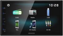 "DMX125DAB Kenwood 6.8"" WVGA Digital Media AV Receiver with DAB Radio Built-in Car Stereo"
