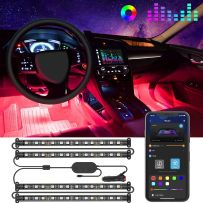 Interior Car LED Strip Light, Ambient Lighting, Multi Colour Under Dash Car Lighting