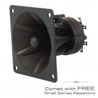 Piezo Horn Tweeter High Impedance + Resistors 85 x 85 x 70mm 150W