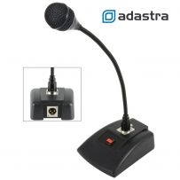 Dynamic Paging PA System Microphone with Flexible Gooseneck & Latch Switch