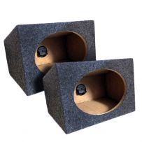 Pair 6 x 9  inch Speaker Box Encolsure for Cars Vans Pickup Trucks