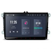 PQ90MTVL 9'' Android 10 Car Radio GPS Navigation Built-in Qualcomm Bluetooth 5.0 with aptX feature for VW/Skoda/Seat