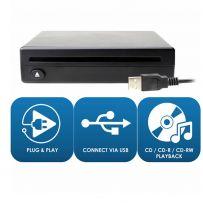 Plug & Play Adaptive USB Car Audio CD Player Upgrade for Factory MECHLESS Headunits