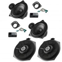 Audison Prima APBMW K4M 2 Way Component Speaker Kit and Audison 8 Inch Under Seat Car Subwoofer For BMW