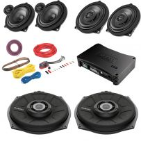 BMW Car Audio Upgrade with Audison Amplifier, Subwoofers,  Front and Rear Speakers and wiring kit