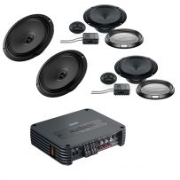 Audison Prima 2-way Coaxial & Component Car Speakers Kit Upgrade with 4 Channel Amplifier Package