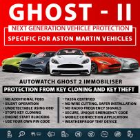 Autowatch GHOST 2 Immobiliser Aston Martin Tassa Approved Key Clone Theft Protection