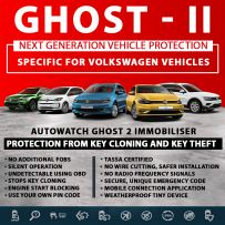 Autowatch GHOST 2 Immobiliser Volkswagen Tassa Approved Key Clone Theft Protection
