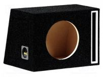 10 inch Bass Reflex Car loudspeaker Subwoofer enclosure MDF Box Black