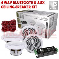 4 Way Wireless Bluetooth Home Bathroom Moisture Resistant Ceiling Speaker Kit