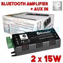 2 x 15w Bluetooth & Aux Mini Small Home Amplifier With Speaker Cables & PSU