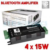 Bluetooth 4 x 15w Compact Mini Amplifier System With 4x 3m Speaker Cables & PSU
