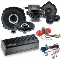 Focal Inside Powered 6.2 BMW Audio Upgrade 2- way Component Speaker and Subwoofer Package