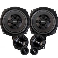 Vibe OPTISOUNDBMWF-V4 BMW Custom Fit 345 Watts 3 Way Component Door Speakers and Under-Seat Subwoofer Package