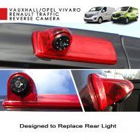 LED Brake Light Rear View Parking Van Reverse Camera For Vauxhall Vivaro Vans