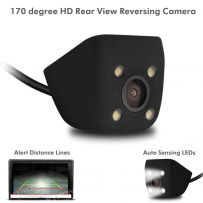 Universal 12V Rear View Reverse Day/Night Car Parking Camera With 4 LED Lights